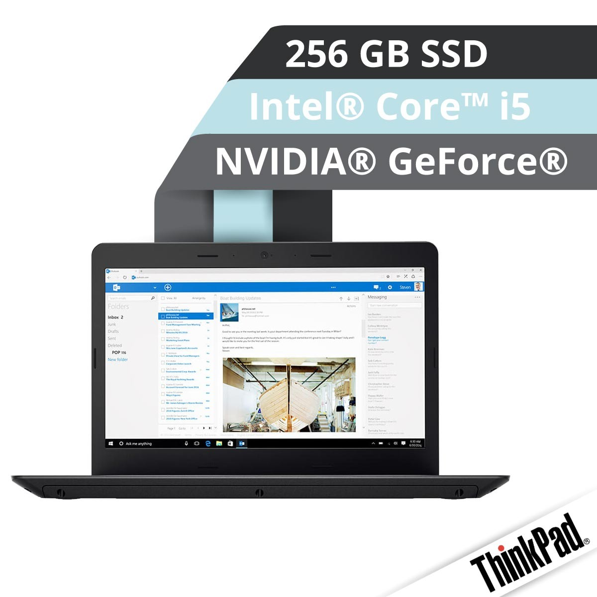 (EOL) Lenovo™ ThinkPad® E470 Notebook Modell 20H2-S004