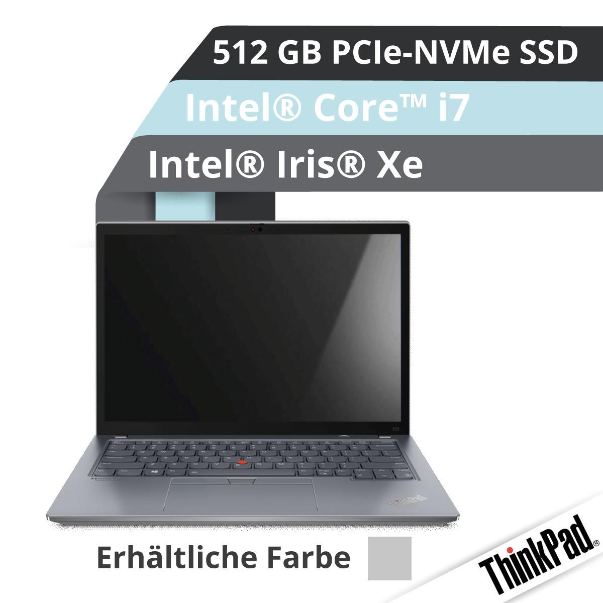(EOL) Lenovo™ ThinkPad® X13 Notebook (Gen.2) Modell 20WK-001P (Grau)