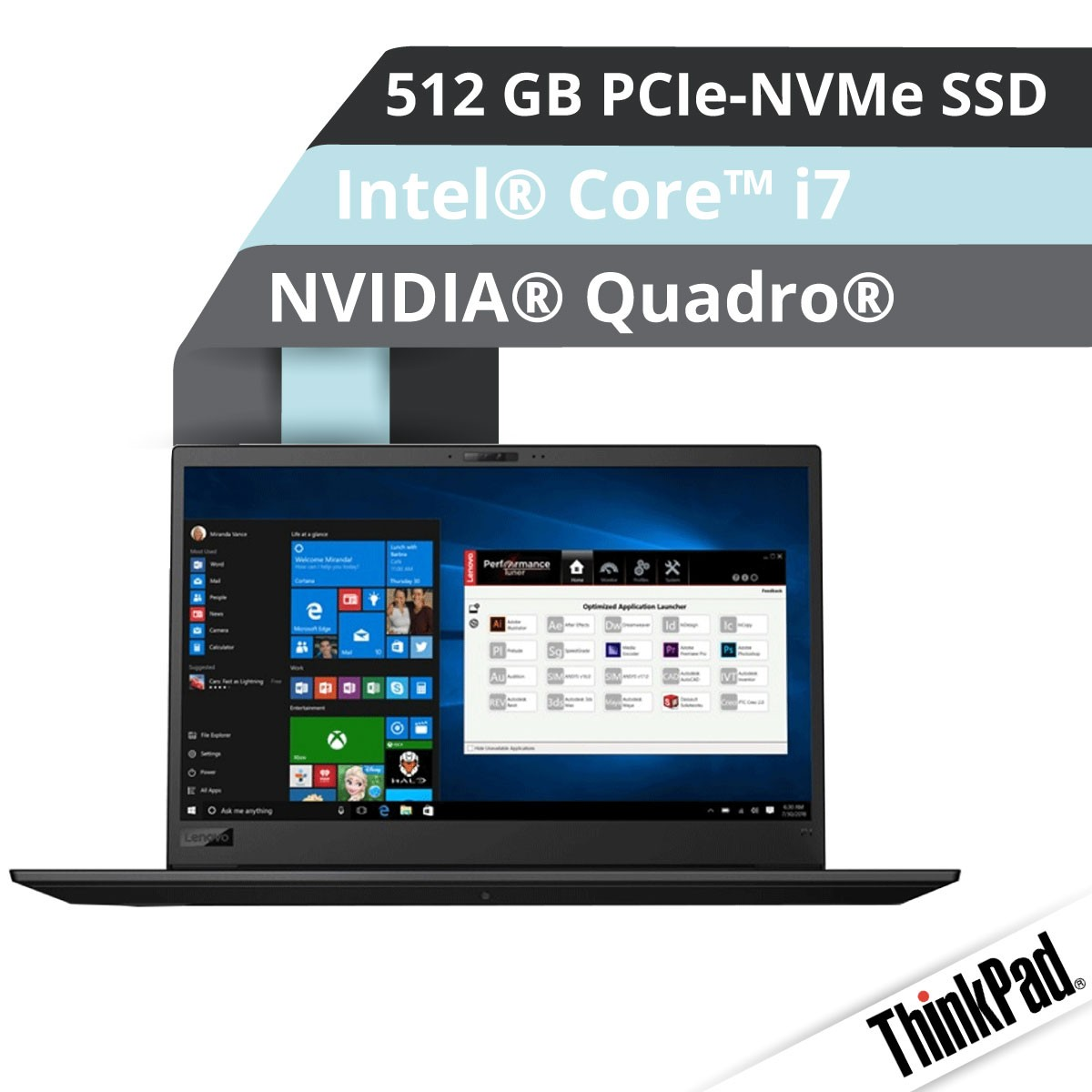 (EOL) Lenovo™ ThinkPad® P1 Workstation Modell 20MD-000D