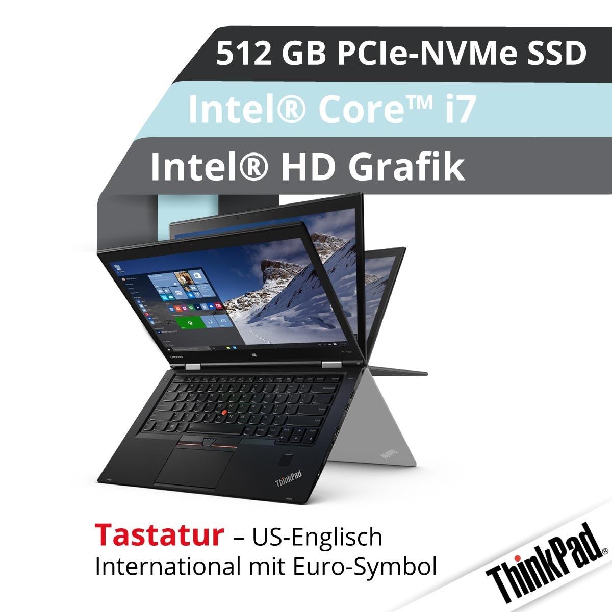 (EOL) Lenovo™ ThinkPad® X1 Yoga Ultrabook Modell 20JE-S3LG (US)