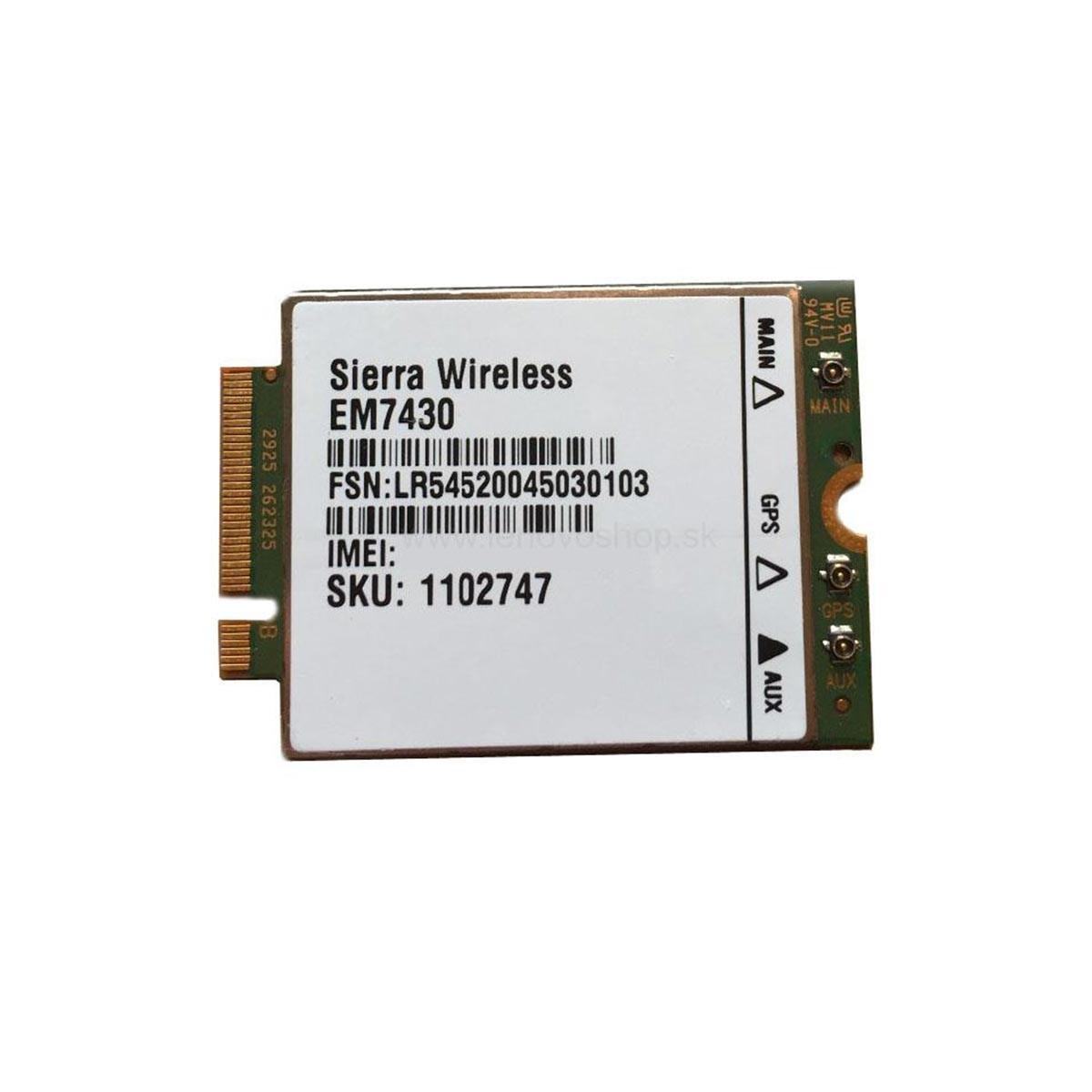 (EOL) Lenovo™ ThinkPad® Sierra EM7430 4G LTE Mobile Broadband