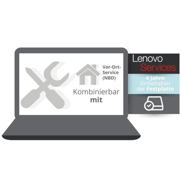 Lenovo Garantieerweiterung: Einbehalten der Festplatte kombinierbar mit 4 Jahre Vor-Ort Service