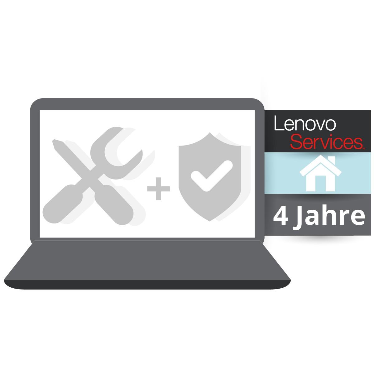 (EOL) Lenovo™ ThinkPlus® 4 Jahre Vor-Ort-Service (NBD) + Unfallschutz - Basisgarantie 3 Jahre Bring-