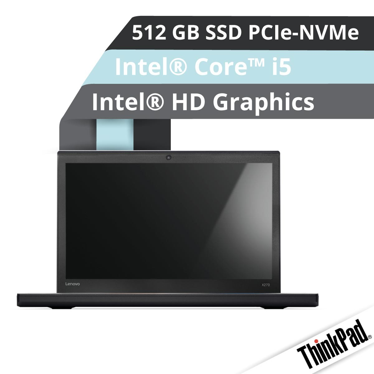 (EOL) Lenovo™ ThinkPad® X270 Notebook Modell 20HM-S00T