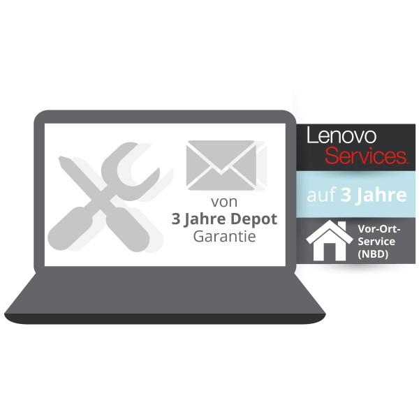 Lenovo™ ThinkPlus® 3 Jahre Vor-Ort-Service für Basisgarantie 3 Jahre Bring-In