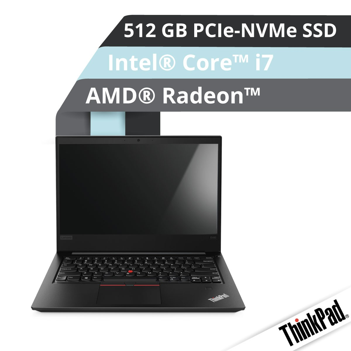 (EOL) Lenovo™ ThinkPad® E480 Notebook Modell 20KQ-S001
