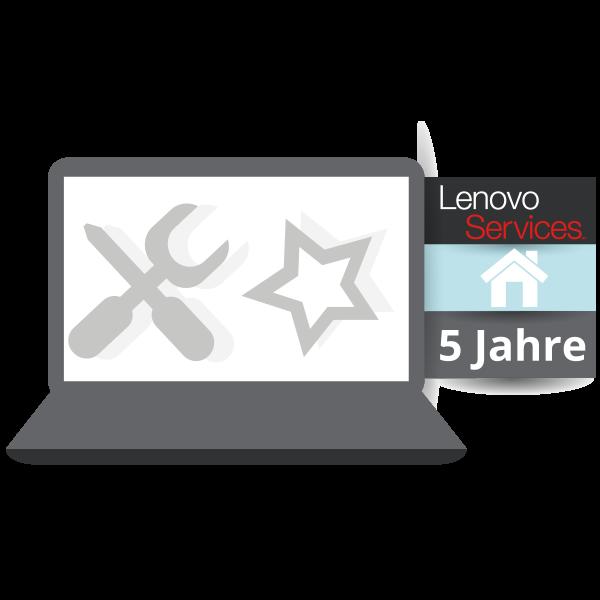 Lenovo™ Premier Support mit 5 Jahren Vor-Ort Garantie (NBD) - Basisgarantie 3 Jahre Bring-In