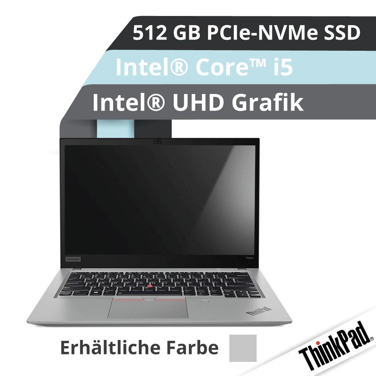 (EOL) Lenovo™ ThinkPad® T490s Notebook Modell 20NX-003L (Silber)