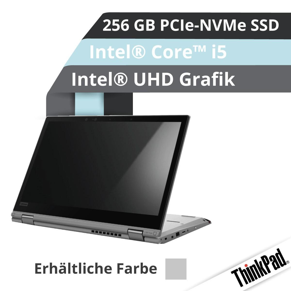 (EOL) Lenovo™ ThinkPad® L390 Yoga Convertible Notebook Modell 20NT-0011 (Silber)